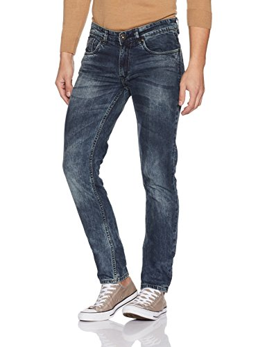 People Men's Slim Fit Jeans (8907496359792_P10102121074252_34W x 33L_Blue)