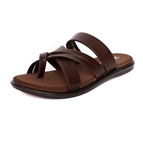 Health Fit Men's Brown PU Diabetic & Orthopedic Footwear (HF5017) -10 UK