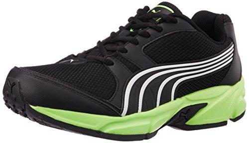 Puma Men's StrikeFashionIIDP Black, Green Gecko and White Running Shoes – 7 UK/India (40.5 EU)