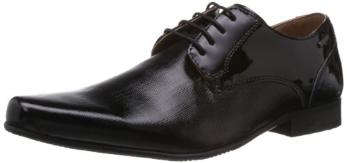 Red Tape Men's Derbys Black Leather Formal Shoes – 7 UK