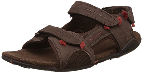 Woodland Men's Brown Leather Sandals and Floaters – 10 UK/India (44 EU)