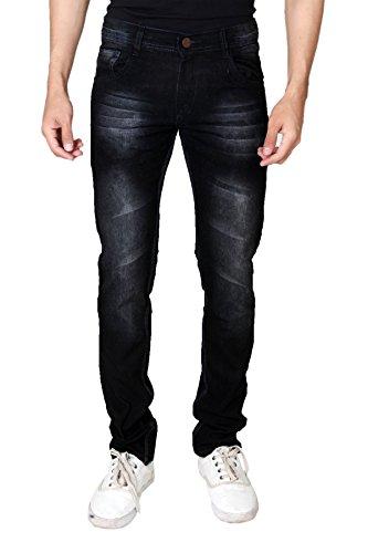 Jugend Black Washed Stretchable Slim Fit Jeans for men