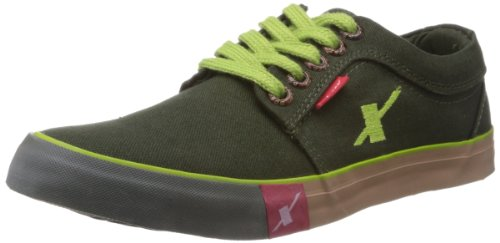 Sparx Men's Olive Green Canvas Sneakers  – 6 UK