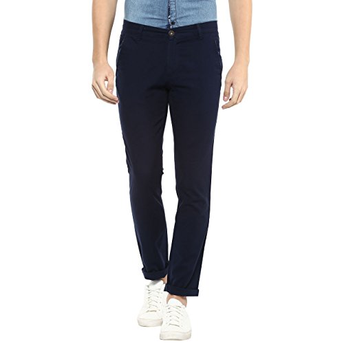 Urban Eagle by Pantaloons Men's Cotton Trouser (205000005723808_Blue_38)