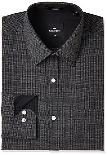 Park Avenue Men's Formal Shirt (8907663246108_PMSY09876-K8_42_Black)