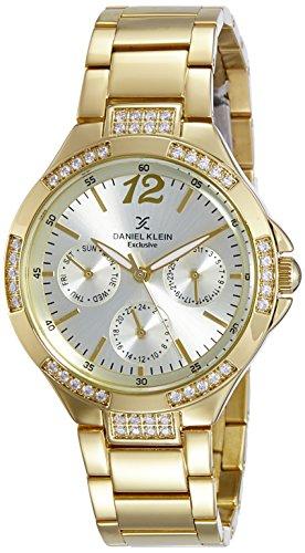 Daniel Klein Analog Gold Dial Women's Watch-DK11104-6