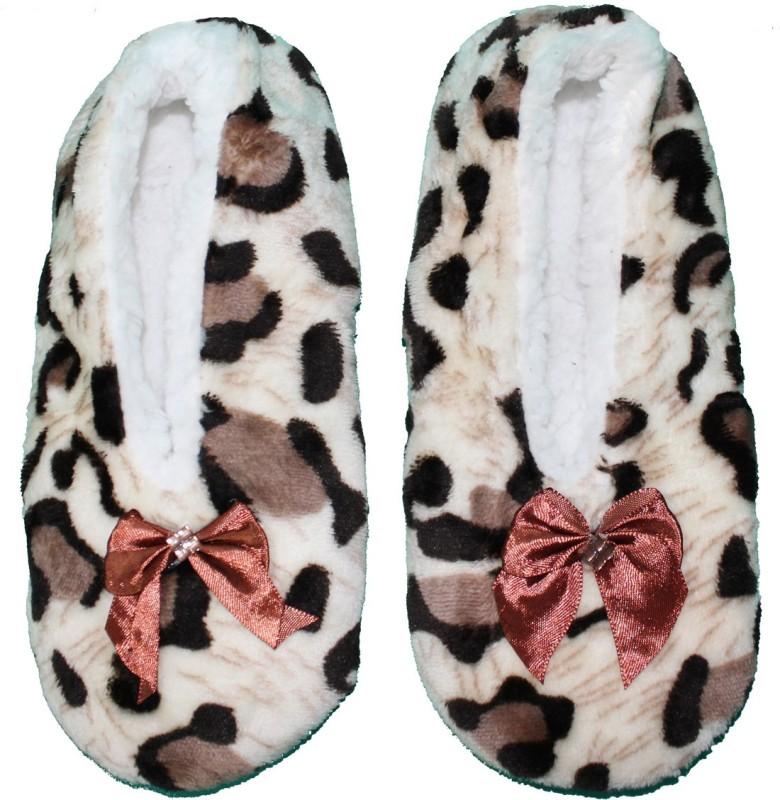 FRIENDSKART Winter Warm Bedroom Socks for Home Casuals(White, Brown)