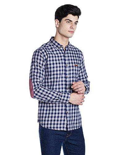 Symbol Men's Regular Fit Casual Shirt (AW17MCS157_Large_Navy)