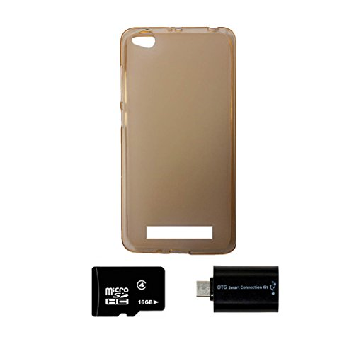 printz xiaomi redmi 4ami 4a soft back cover gold with 16gb memory card and -