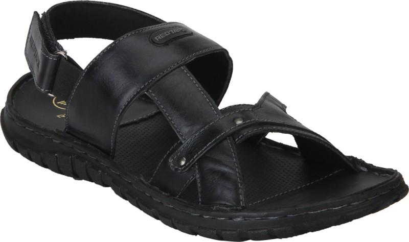 red tape men black sandals -