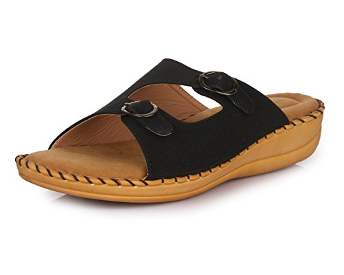 trase dr plus iii black ortho slippers for women with comfortable doctor -