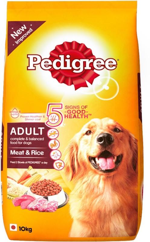 pedigree adult meatrice rice dog food10 kg -