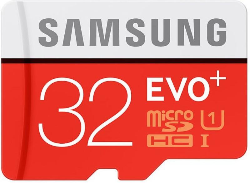 samsung evo plus 32 gb microsdhc class 10 80 mbs memory card -