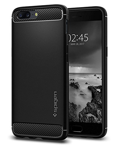 spigen rugged armor premium tpu back cover case for oneplus 5 one plus 5  -