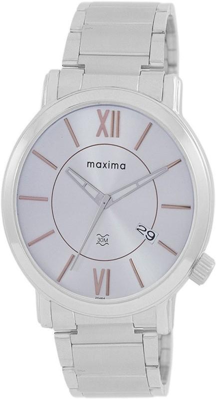 Maxima Analog Silver Dial Men's Watch  – For Men