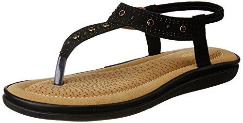 Bata Women's Diamonte_1 Black Fashion Sandals – 4 UK/India (37 EU)(6616942)