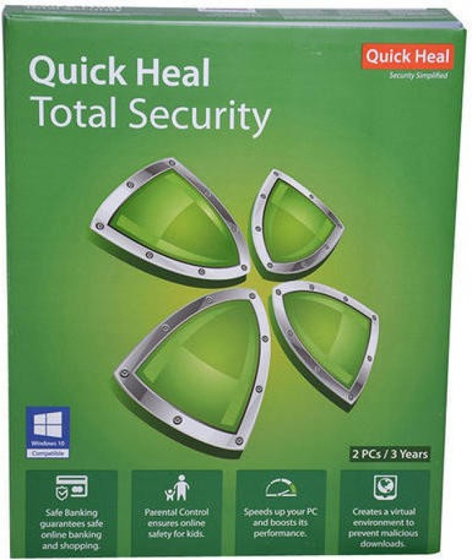 2016-2017 QUICK HEAL TOTAL SECURITY 2PC 3YEAR