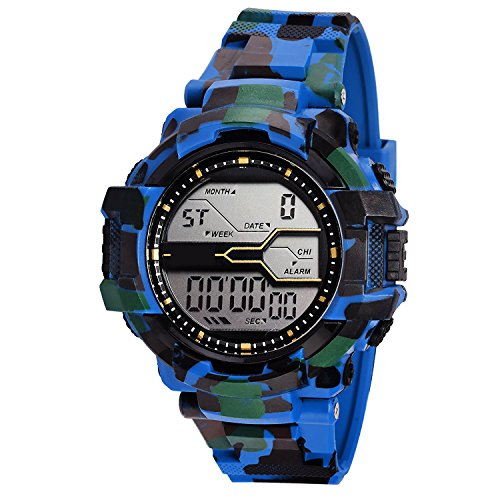 Fabian New York Blue Digital Sports Date Function Watch For Mens & Boys