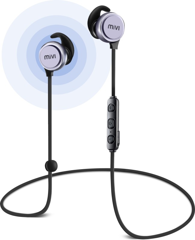 Mivi BE41-SG Wireless Headset with Mic(Gun Metal, In the Ear)