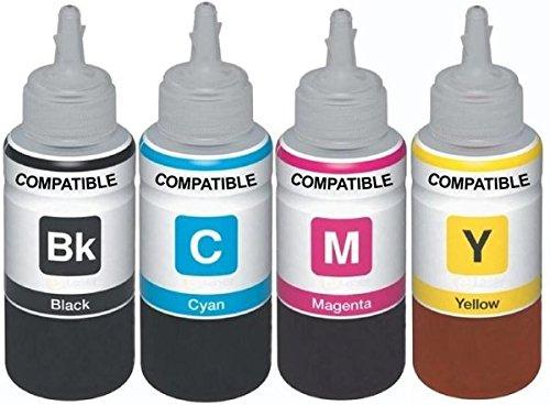 Dubam Refill Ink For Use In Epson L210 Printer – Cyan, Magenta, Yellow & Black – 70 ML Each Bottle