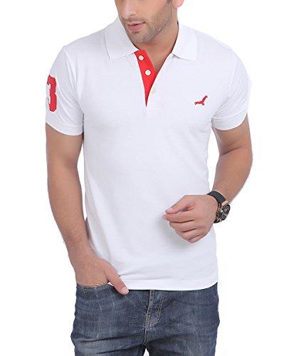 American Crew Polo No.3 Applique White T-Shirt – L (AC021R-L)