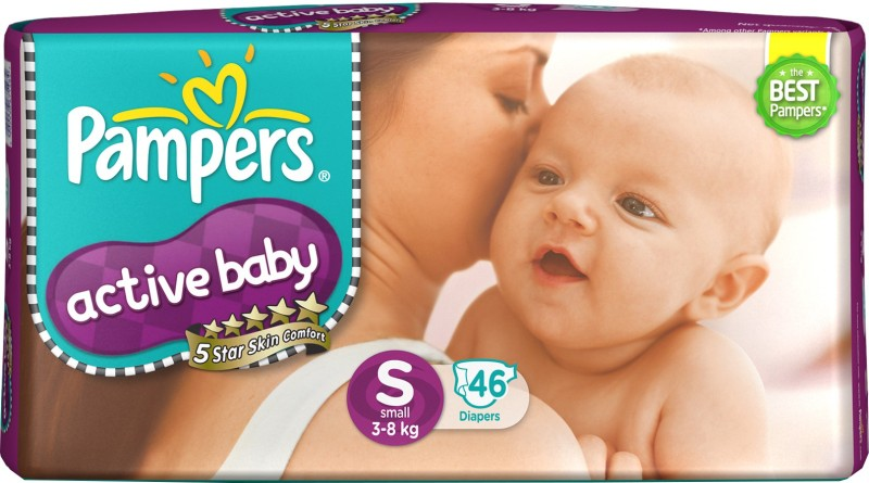 Pampers Active Baby Diapers – S(46 Pieces)