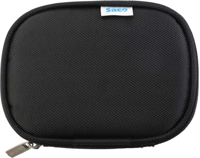 Saco Pouch for Lenovo External Hard Drive 16006215 1 TB(Black, Artificial Leather)