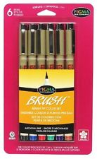 Sakura 38061 6-Piece Pigma Assorted Colors Brush Pen Set