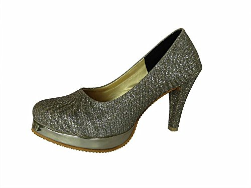 metro womens silver partywear stylish sandals 5 -