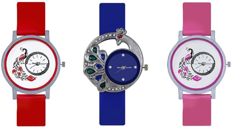 iDIVAS Letest fresh Arrival Colorful Designer looks Watch  – For Girls