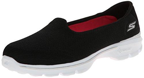 Skechers Women's Go Walk 3 – Insight Black and White Mesh Nordic Walking Shoes – 3 UK/India (36 EU) (6 US)