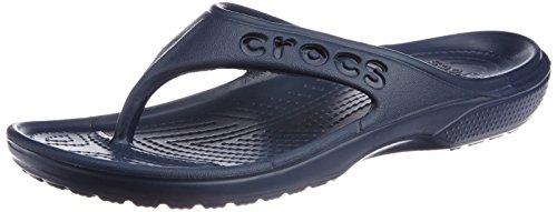 Crocs Unisex Baya Flip Navy Rubber Flip Flops Thong Sandals – M12