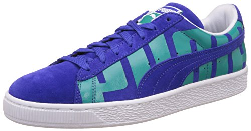 Puma Men's Suede Classic + Big Logo Surf The Web and Columbia White Leather Sneakers – 9 UK/India (43 EU)