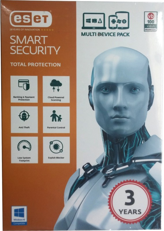 ESET Smart Security 1PC 3Years Total Protection Version 9
