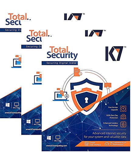 K7 Total Security – 3 PC, 1 Year(CD)