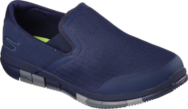 Skechers Go Walk Flex Walking Shoes For Men(Navy, Grey)