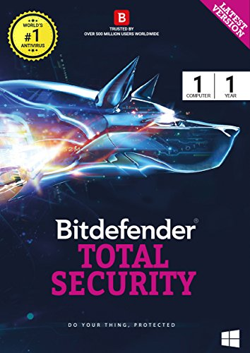 BitDefender Total Security 2017 Windows – 1 Device, 1 Year (CD)