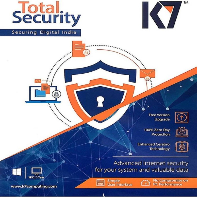 K7 TOTAL SECURITY 1 USER 1 YEAR NEW
