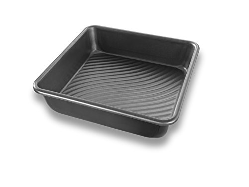 Square : USA Pan Patriot Pan Bakeware Aluminized Steel 8-Inch Square Cake Pan