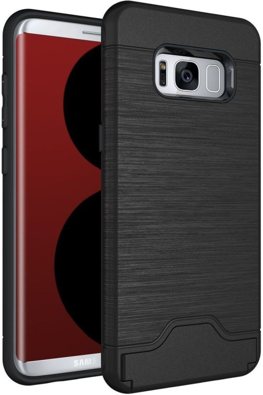 Bumper Back Cover for Samsung Galaxy S8(Black, Shock Proof, Rubber, Plastic)