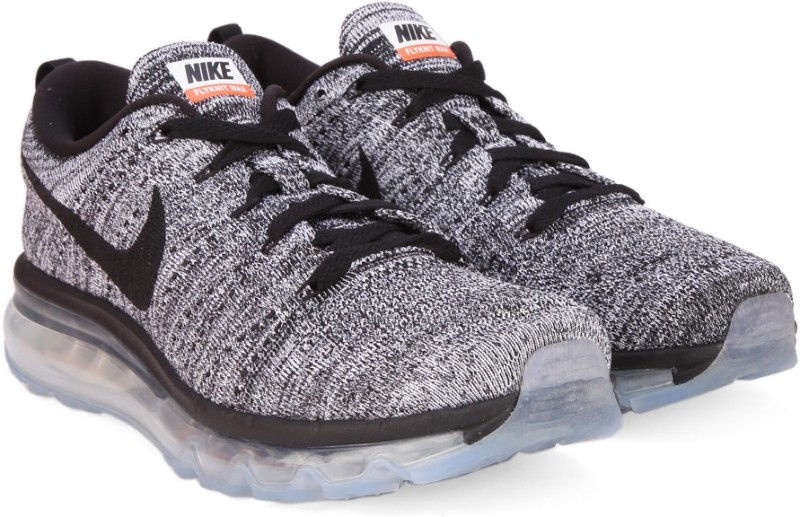 Nike FLYKNIT AIR MAX Running Shoes For Men(Black, White)