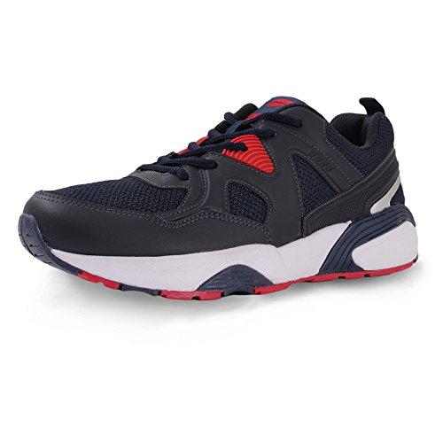 Mmojah Men Ignite Diamond Navy/Red Running Sports Shoes-8