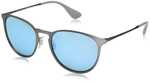 Ray-Ban Metal Unisex Round Sunglasses, Rubber Gunmetal, 54 mm