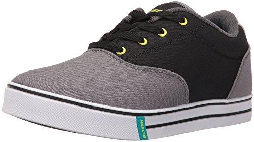 Heelys Men s Launch Fashion Sneaker Charcoal/black/lime 12 D(M) US