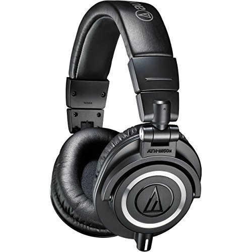audio technica ath m50x over ear professional studio monitor headphones black -