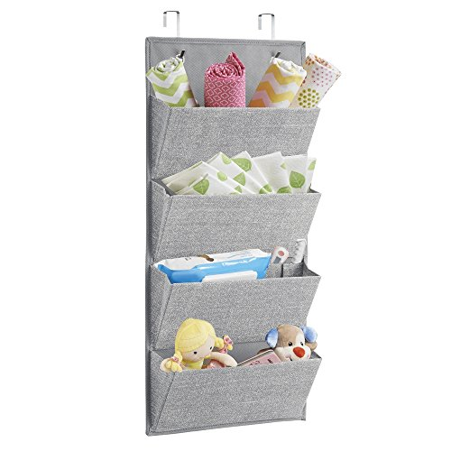 interdesign aldo wall mountover door fabric closet storage organizer for -