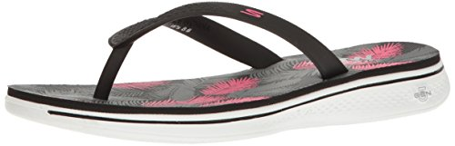 skechers performance women s h2 goga lagoon flip flop blackpink 9 bm us -
