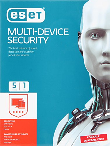 ESET Smart Multi-Device Security – 5 PCs, 1 Year (CD)