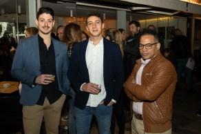 Alberto Moreno, Martin Mazo y el Chef Marina Bay Gerson Rosario