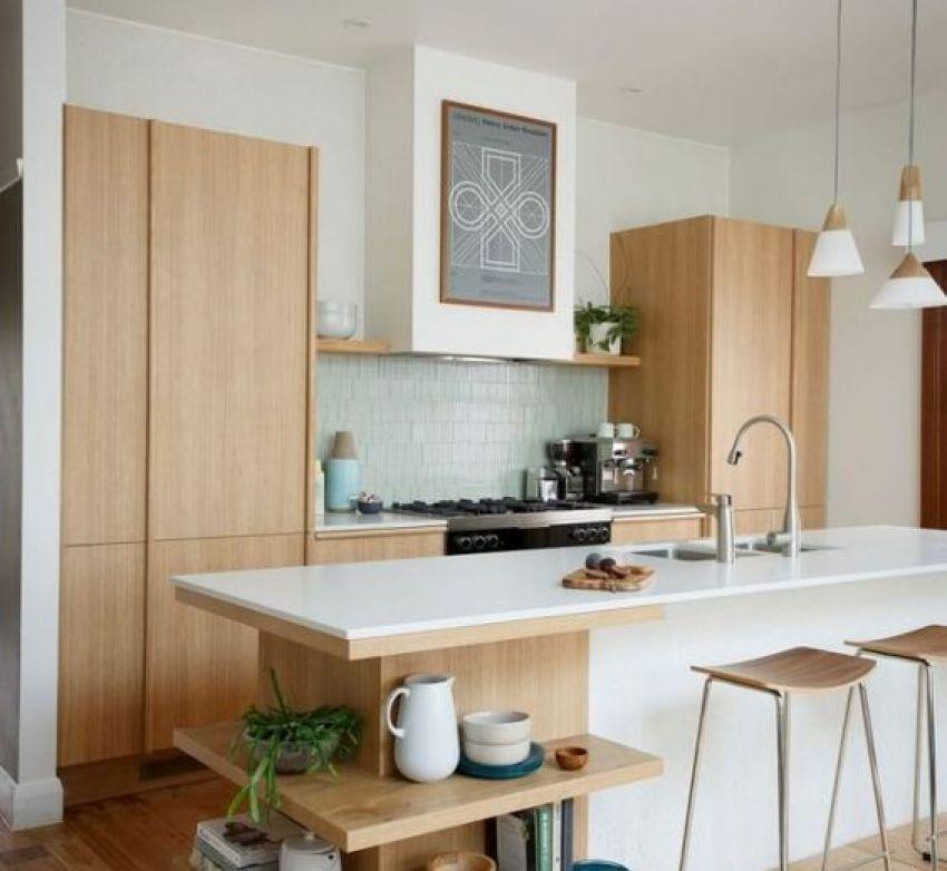 Open shelving in Modern Kitchen